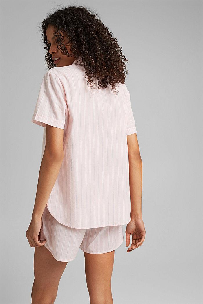 Striped pyjamas, 100% organic cotton, LIGHT PINK, detail image number 2