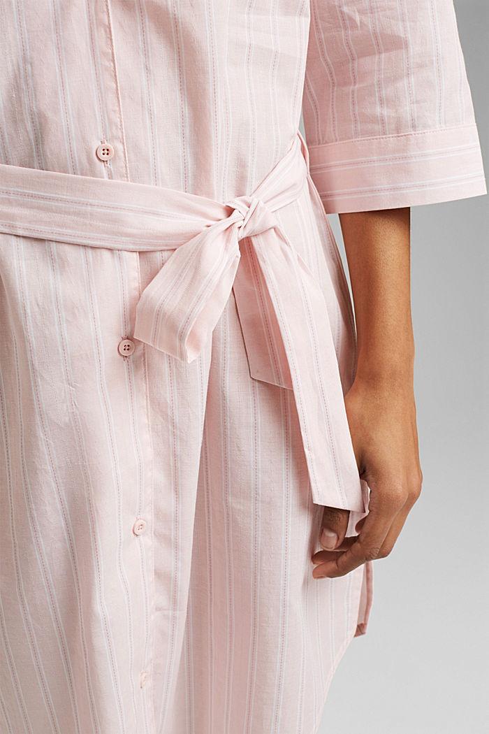 Nachthemd mit Streifen, 100% Organic Cotton, LIGHT PINK, detail image number 5