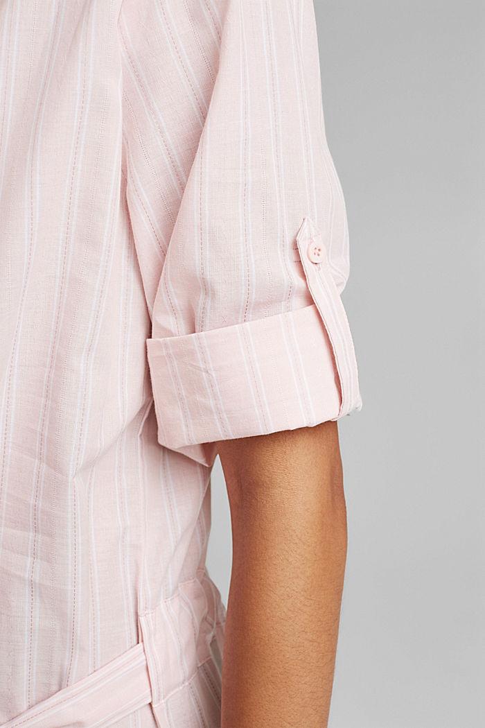 Nachthemd mit Streifen, 100% Organic Cotton, LIGHT PINK, detail image number 6