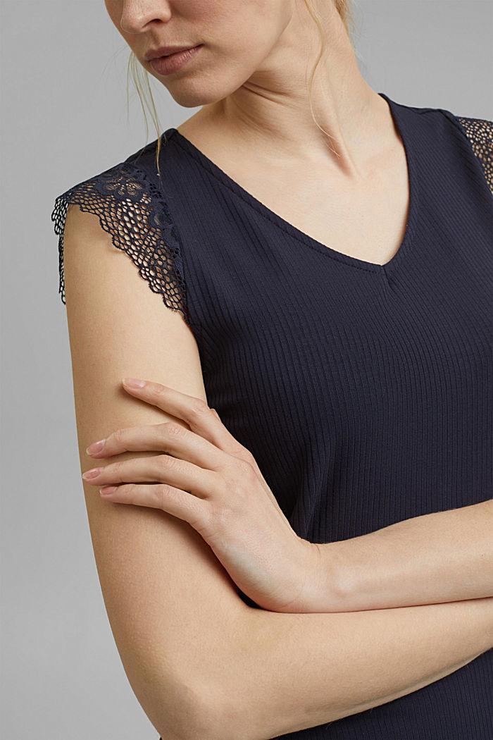 Jersey-Pyjama mit LENZING™ ECOVERO™, NAVY, detail image number 2