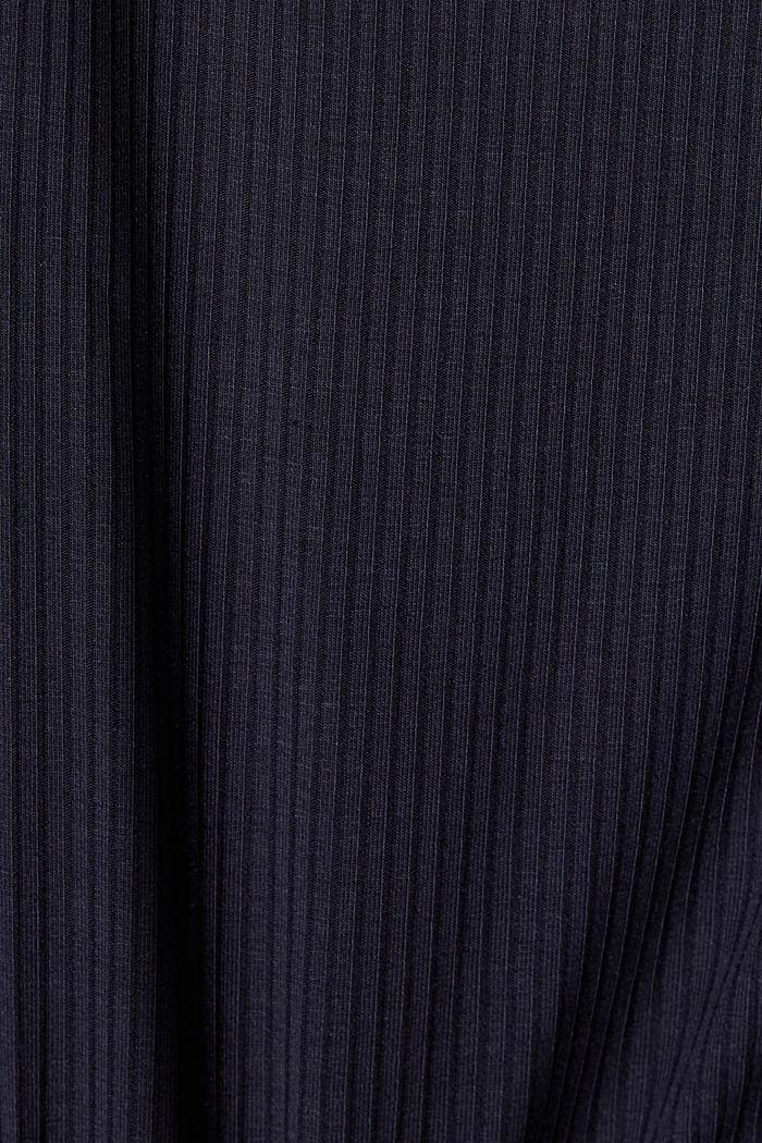 Nachthemd aus Ripp-Jersey mit Spitze, NAVY, detail image number 4