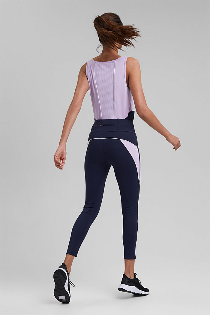 Recycelt: Active-Leggings mit E-Dry, NAVY, detail image number 3