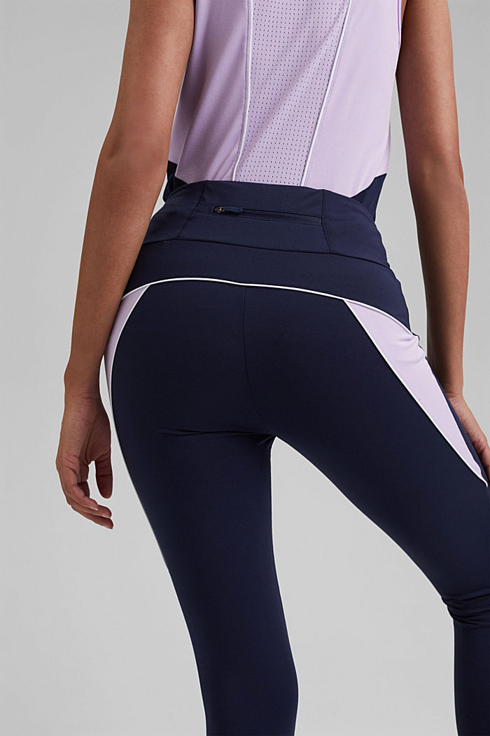 Recycelt: Active-Leggings mit E-Dry, NAVY, detail image number 5