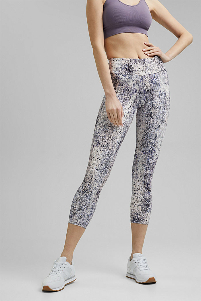 Gerecycled: Active legging met E-DRY, MAUVE, detail image number 0