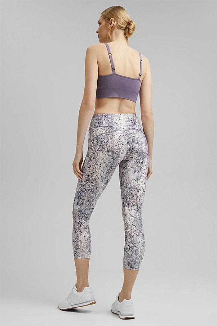 Gerecycled: Active legging met E-DRY, MAUVE, detail image number 3