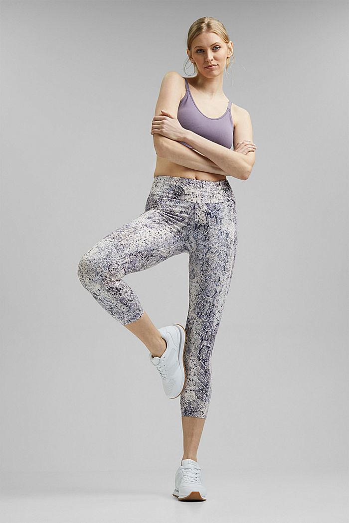 Gerecycled: Active legging met E-DRY, MAUVE, detail image number 1