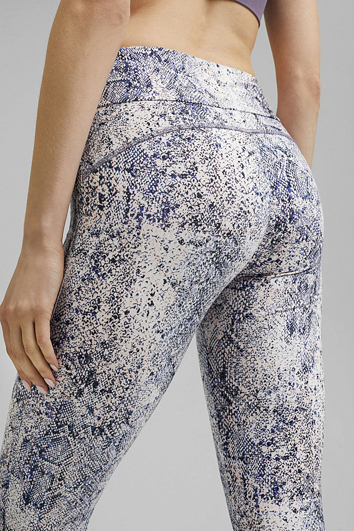 Gerecycled: Active legging met E-DRY, MAUVE, detail image number 2