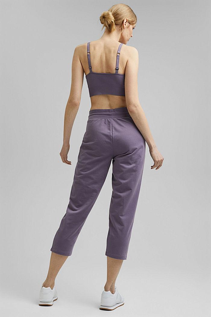 Pantalones jogging con algodón ecológico, MAUVE, detail image number 3
