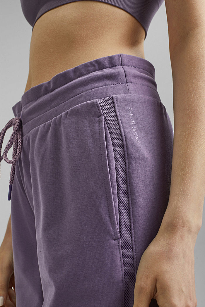 Pantalones jogging con algodón ecológico, MAUVE, detail image number 2