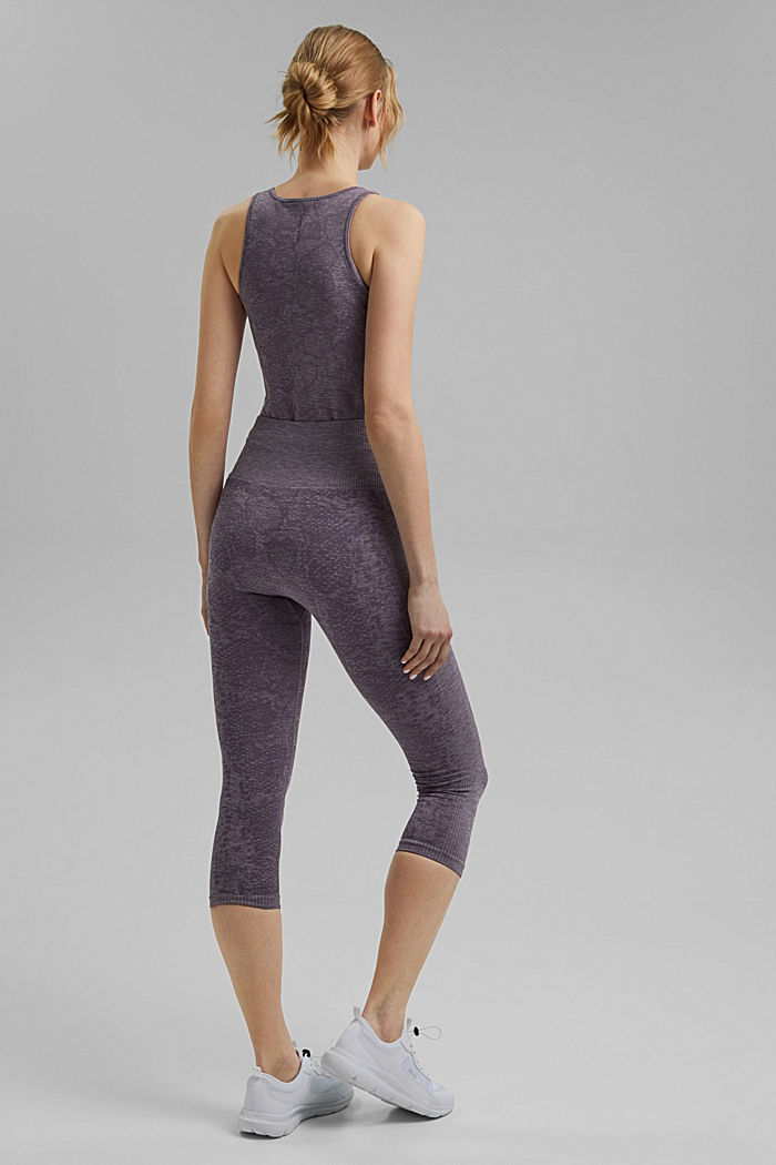 YOGA: seamless, high-performance leggings with an E-Dry finish, MAUVE, detail image number 3