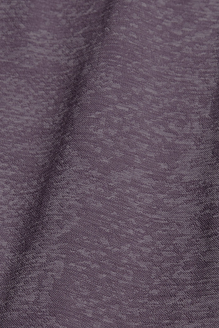 YOGA: seamless, high-performance leggings with an E-Dry finish, MAUVE, detail image number 4
