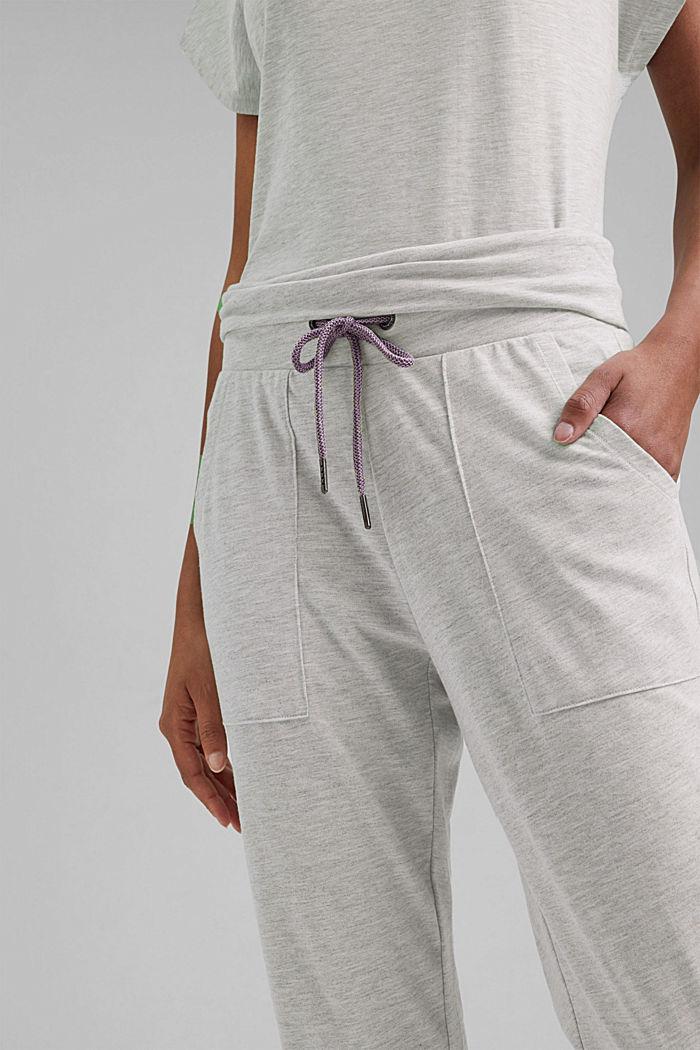 YOGA: spodnie z dżerseju z bawełną organiczną, LIGHT GREY, detail image number 2