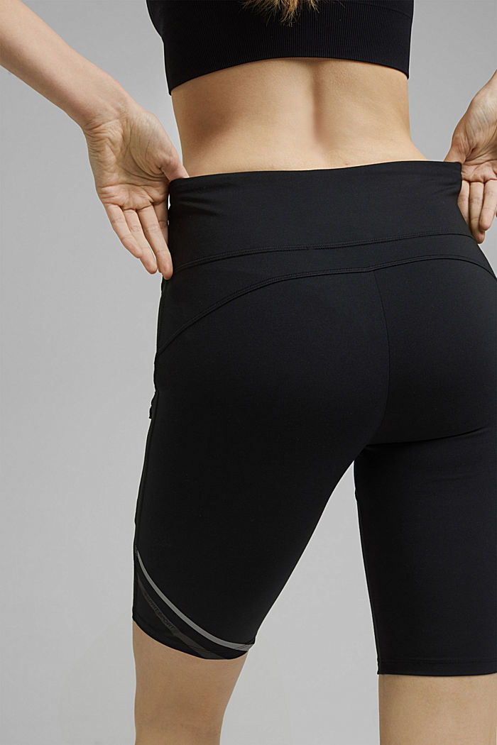 Recycled: Active shorts with E-DRY, BLACK, detail image number 5