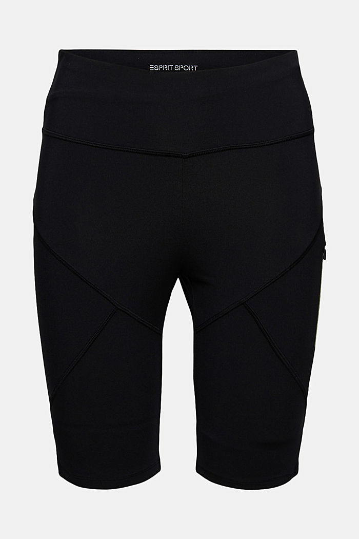 Recycled: Active shorts with E-DRY, BLACK, detail image number 7