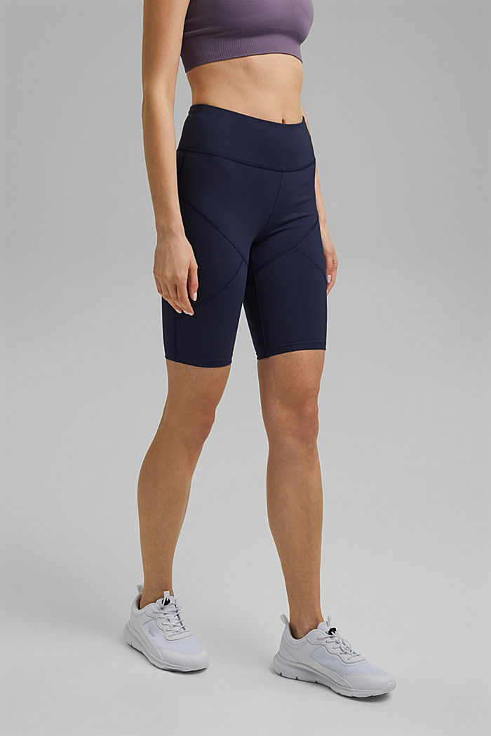Recycled: Active shorts with E-DRY, NAVY, detail image number 0