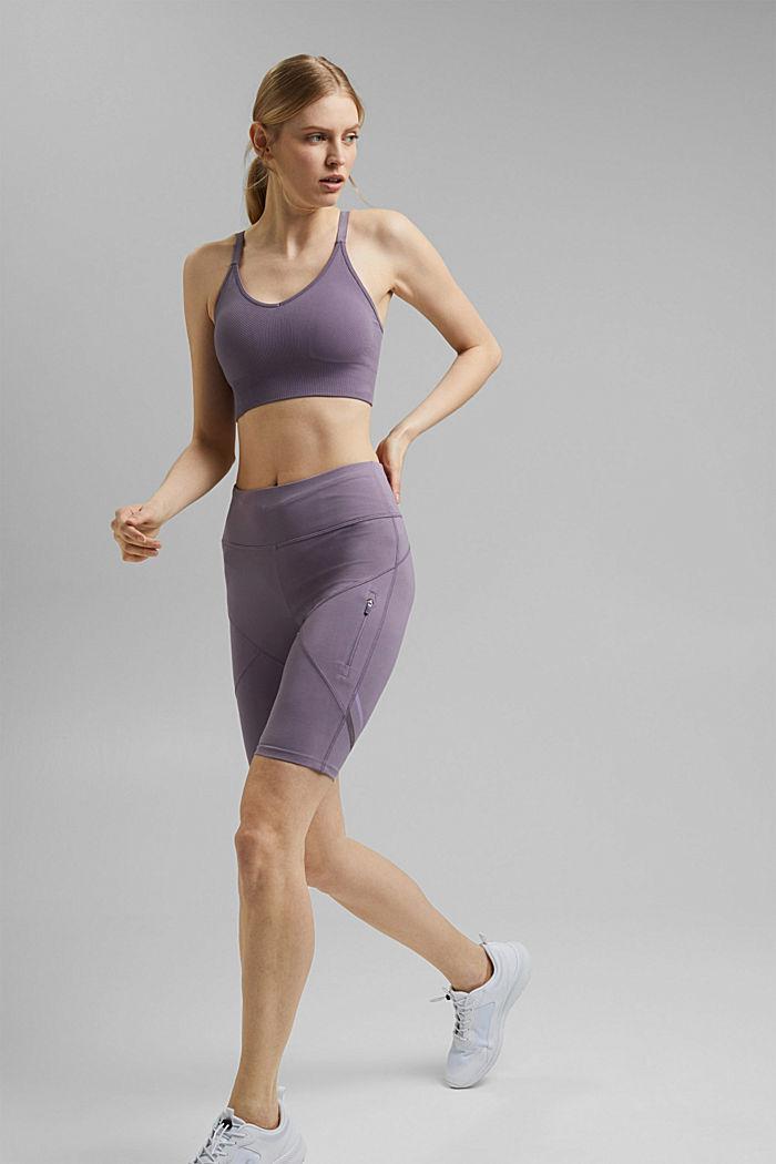 Recycelt: Active-Shorts mit E-Dry, MAUVE, detail image number 1