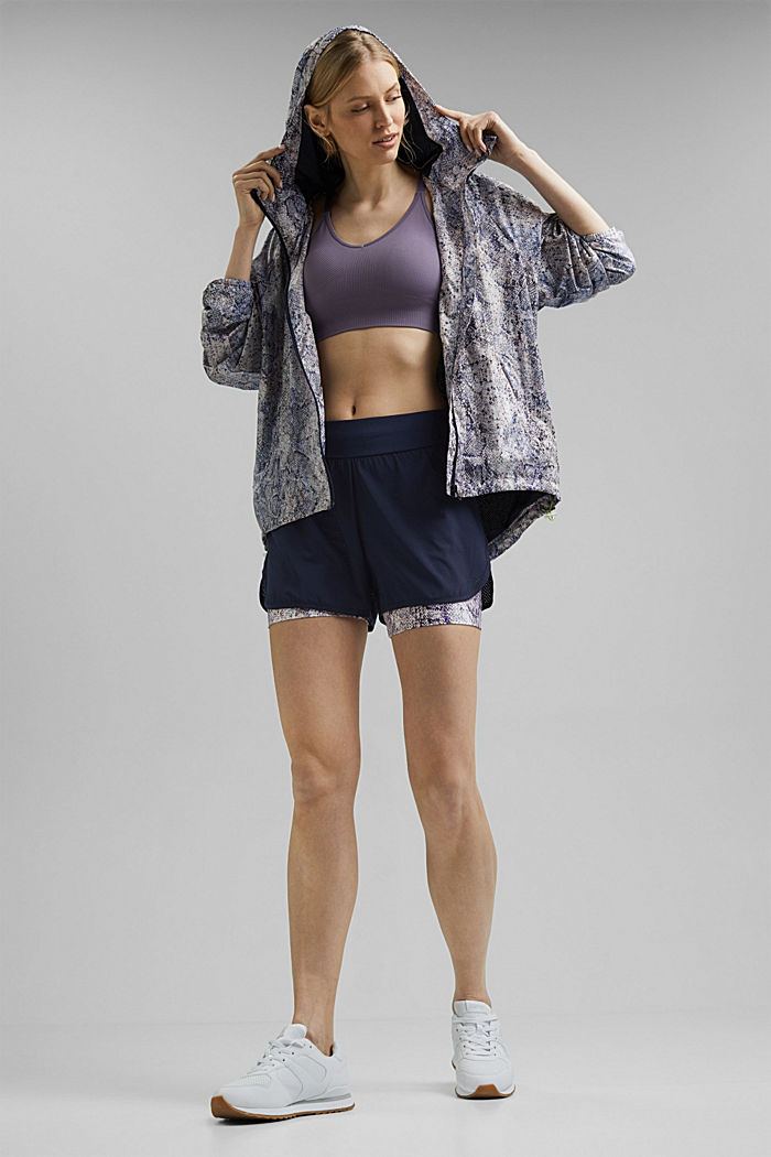 Recycelt: Double-Layer-Shorts, NAVY, detail image number 1