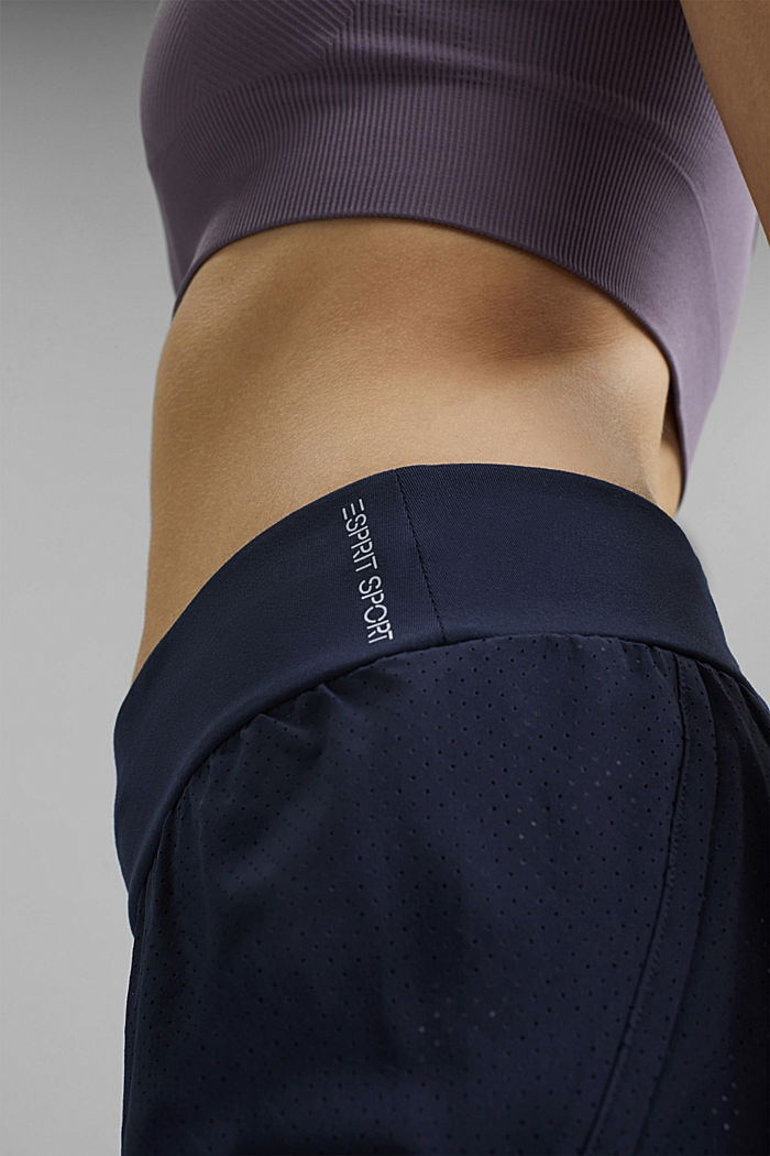Recycled: double-layer shorts, NAVY, detail image number 5