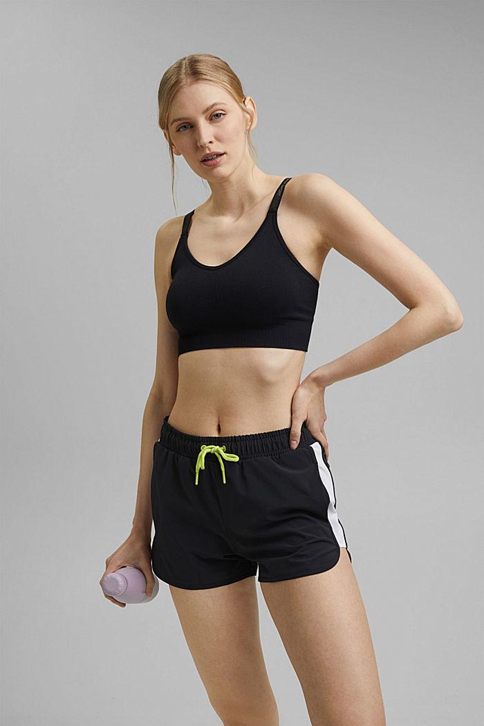 Recycelt: Shorts mit Kontrastblenden, BLACK, detail image number 5