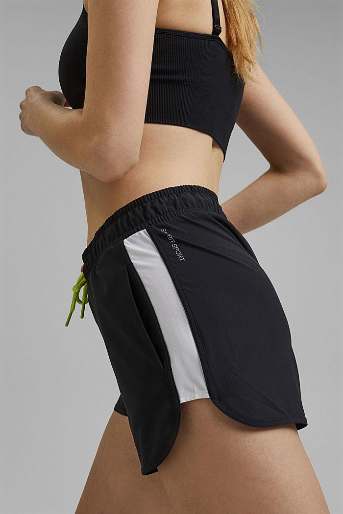 Recycelt: Shorts mit Kontrastblenden, BLACK, detail image number 2