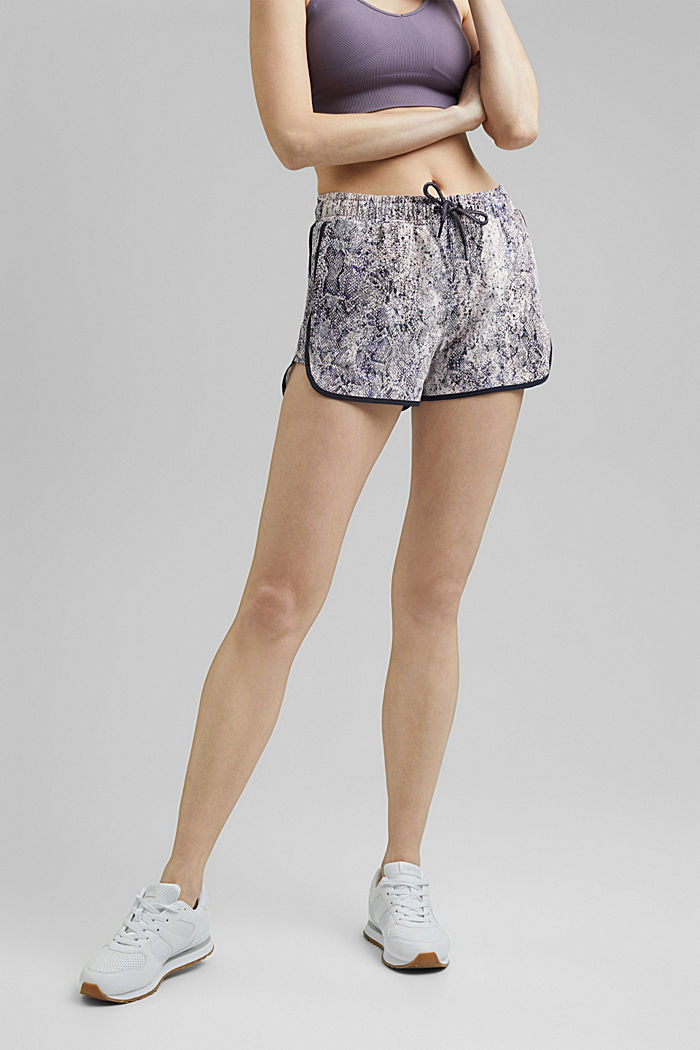 Recycled: Active shorts with E-DRY, MAUVE, detail image number 0