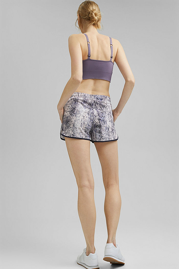 Recycled: Active shorts with E-DRY, MAUVE, detail image number 3