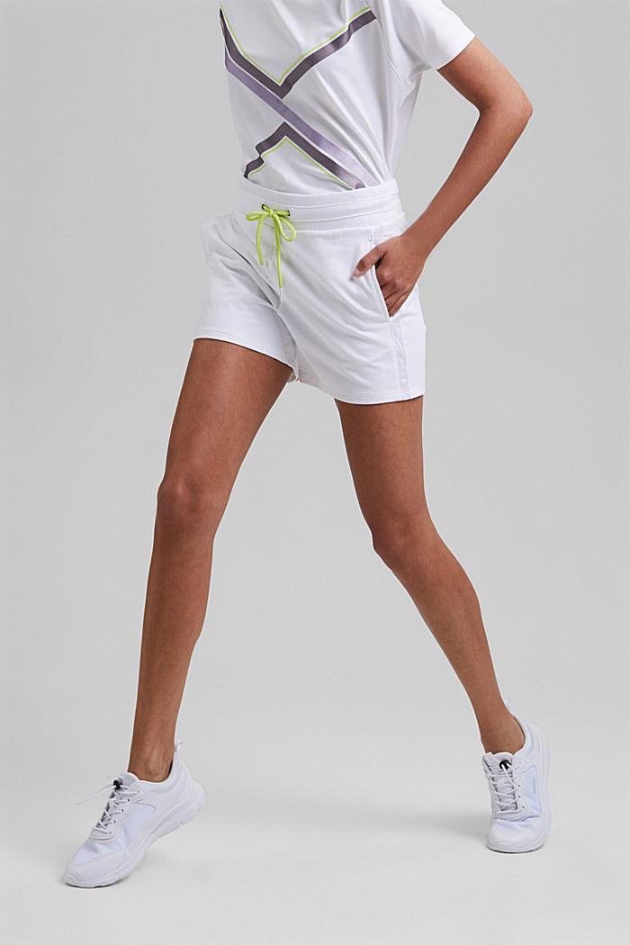 Sweat-Shorts mit Organic Cotton, WHITE, detail image number 0