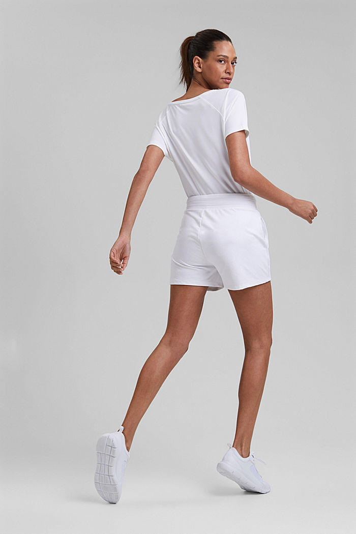 Sweat-Shorts mit Organic Cotton, WHITE, detail image number 3