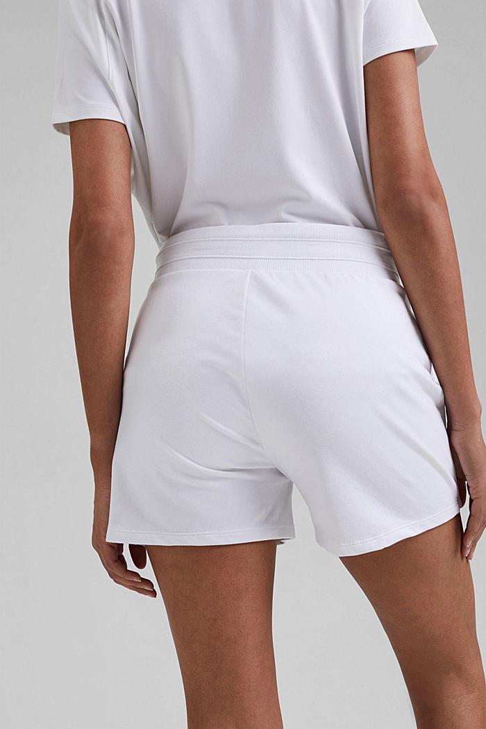 Sweat-Shorts mit Organic Cotton, WHITE, detail image number 5