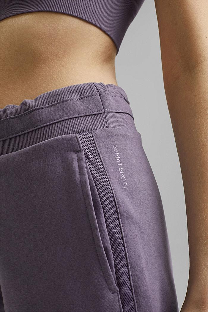 Short en molleton à teneur en coton biologique, MAUVE, detail image number 2