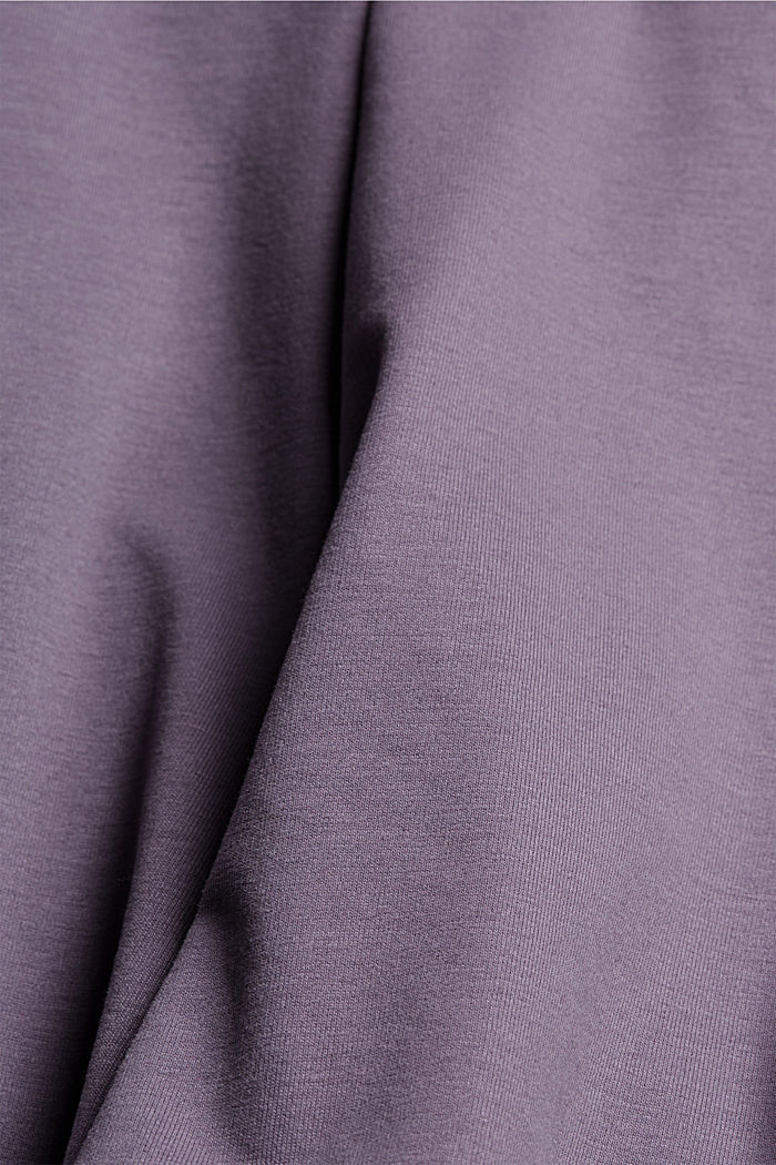 Sweatshirt fabric shorts with organic cotton, MAUVE, detail image number 4