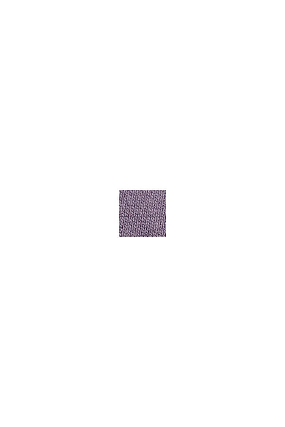 Šortky z teplákoviny s bio bavlnou, MAUVE, swatch