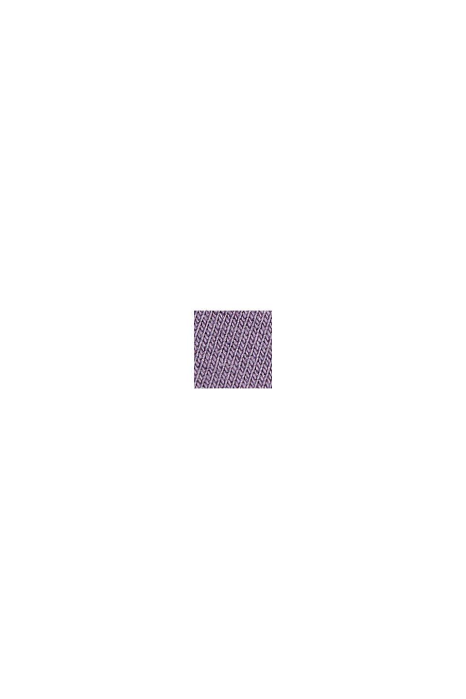 Kurzärmeliger Hoodie mit Organic Cotton, MAUVE, swatch