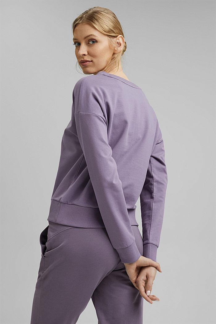 YOGA sweatshirt in organic cotton, MAUVE, detail image number 3