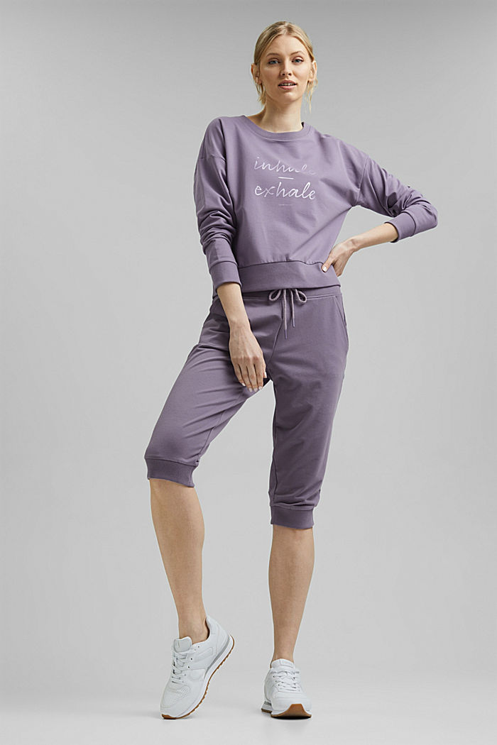 YOGA sweatshirt in organic cotton, MAUVE, detail image number 1