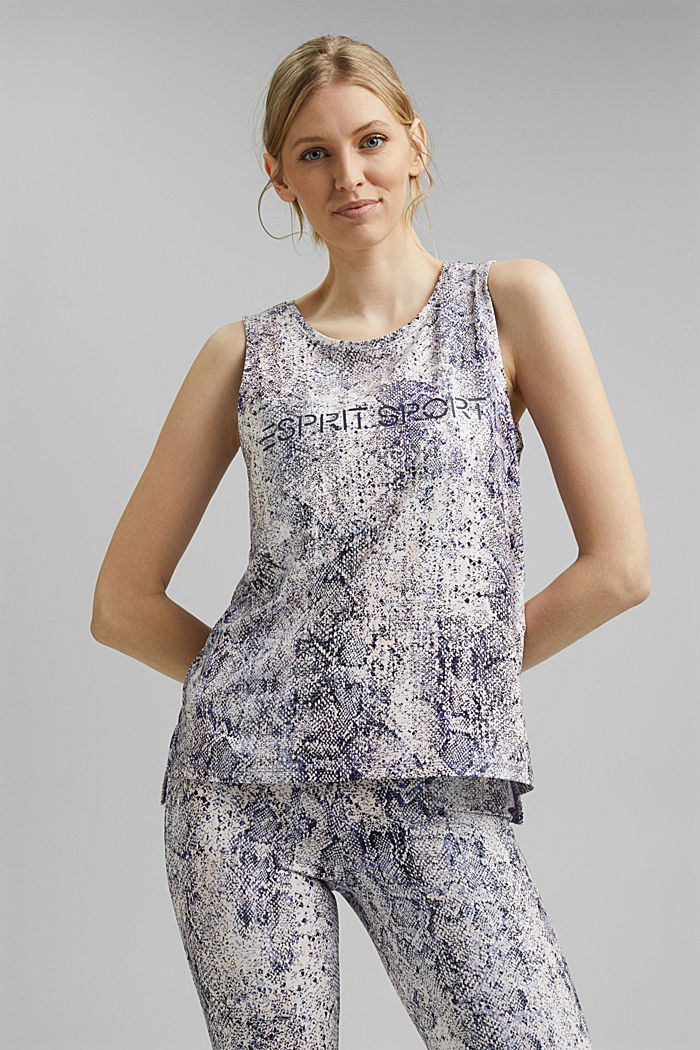 Recycled: Print top with E-DRY, MAUVE, detail image number 0