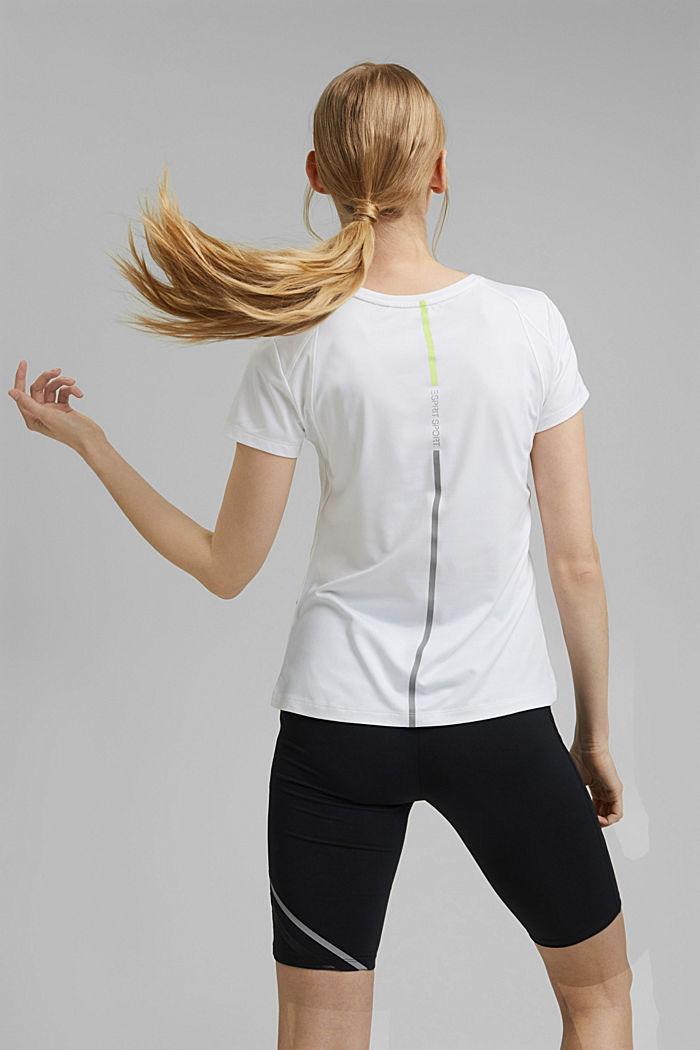 Recycelt: T-Shirt mit Mesh und E-DRY, WHITE, detail image number 3