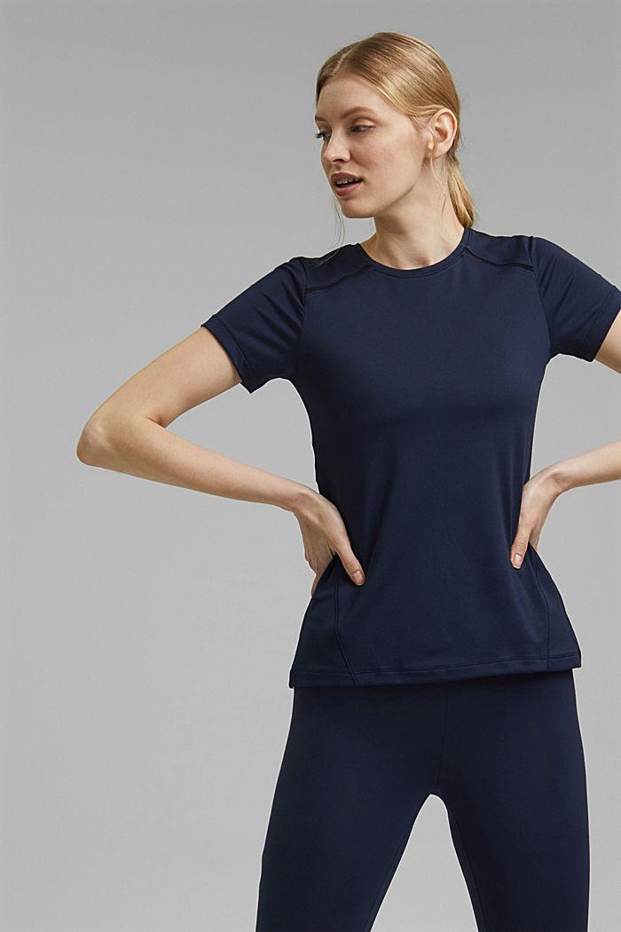 Recycelt: T-Shirt mit Mesh und E-DRY, NAVY, detail image number 6