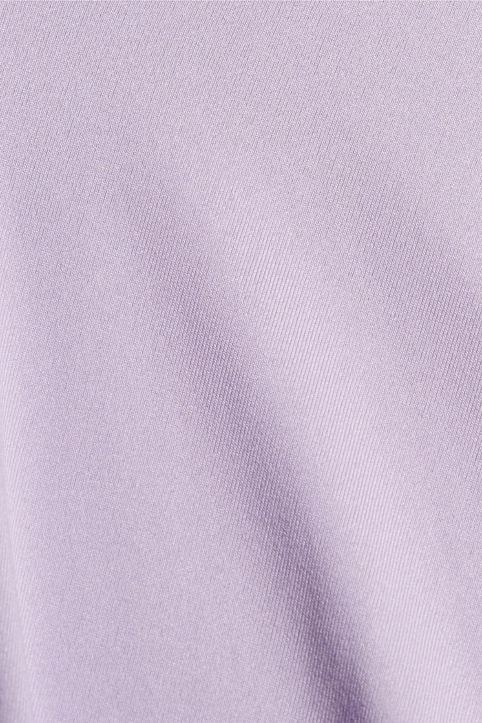 Gerecycled: T-shirt met mesh en E-DRY, LAVENDER, detail image number 4