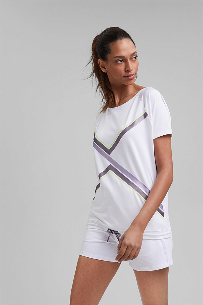 Recycled: T-shirt with drawstring and E-DRY