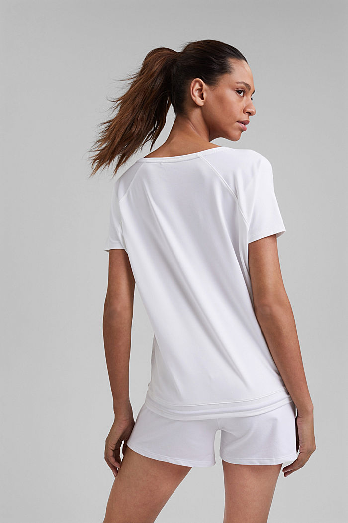 Recycled: T-shirt with drawstring and E-DRY, WHITE, detail image number 3