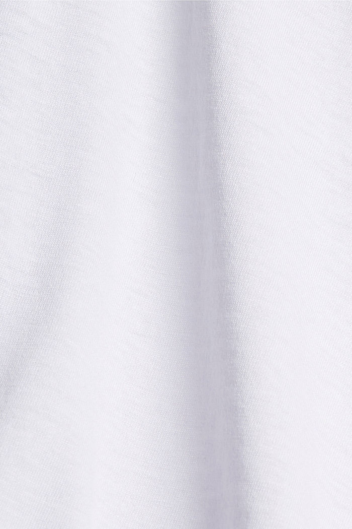 Gerecycled: active top met mesh details, WHITE, detail image number 4