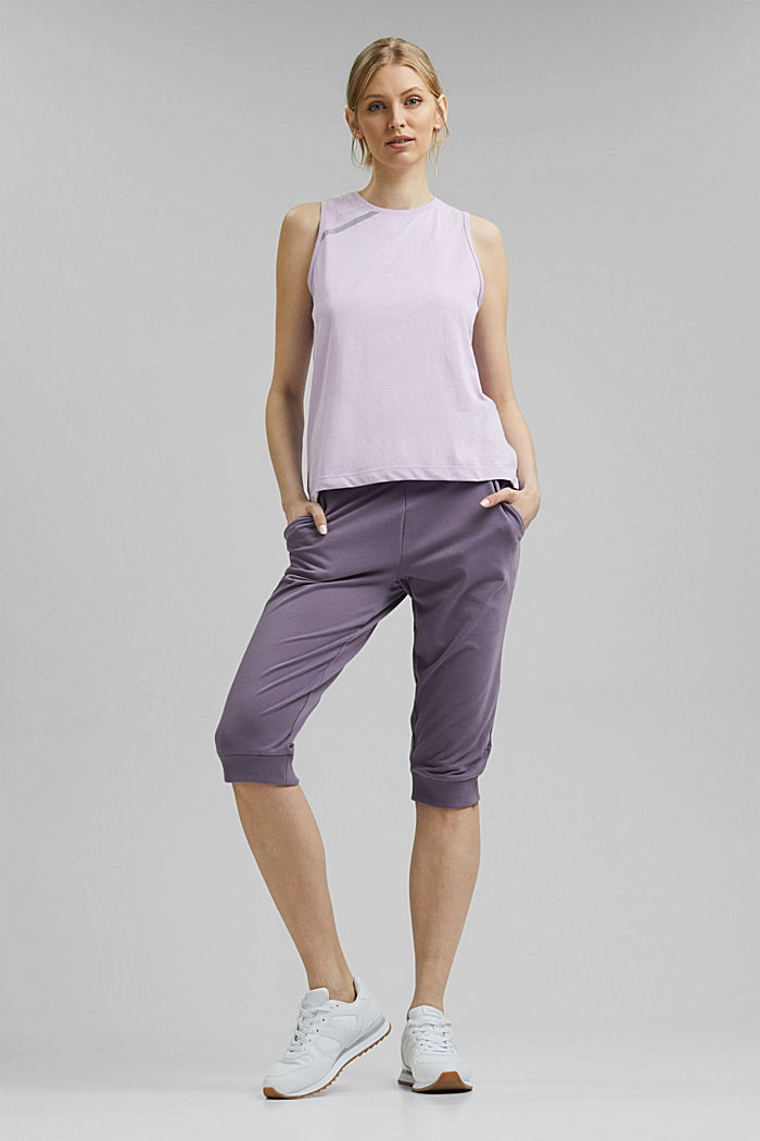 Recycled: active top with mesh details, LAVENDER, detail image number 1
