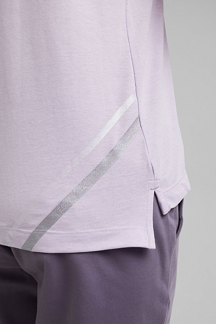 Recycled: active top with mesh details, LAVENDER, detail image number 2