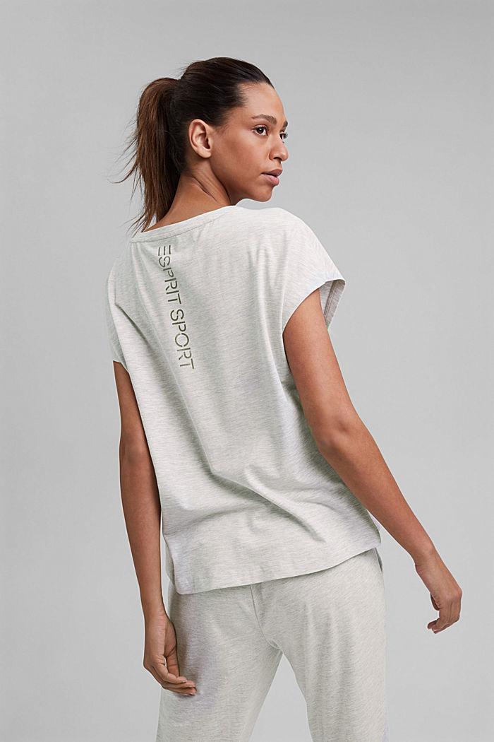 YOGA: T-Shirt mit Organic Cotton, LIGHT GREY, detail image number 3