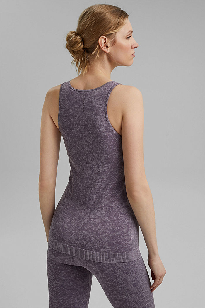 YOGA top with an E-Dry finish and integral bra, MAUVE, detail image number 3