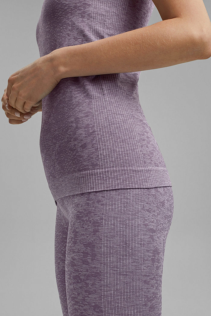 YOGA top with an E-Dry finish and integral bra, MAUVE, detail image number 2