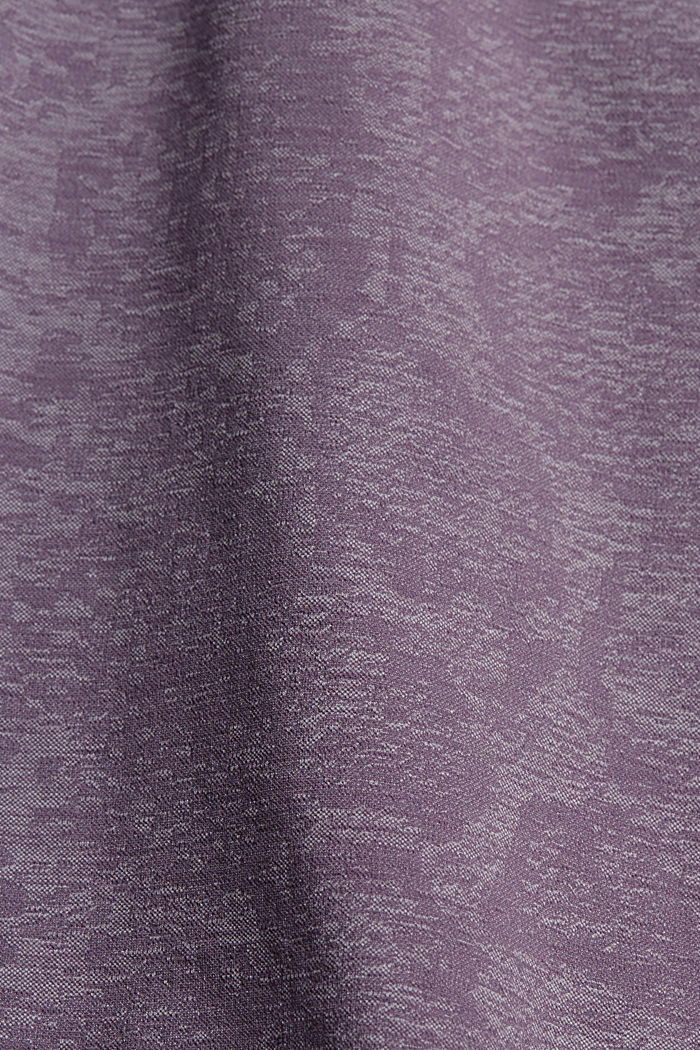 YOGA top with an E-Dry finish and integral bra, MAUVE, detail image number 4