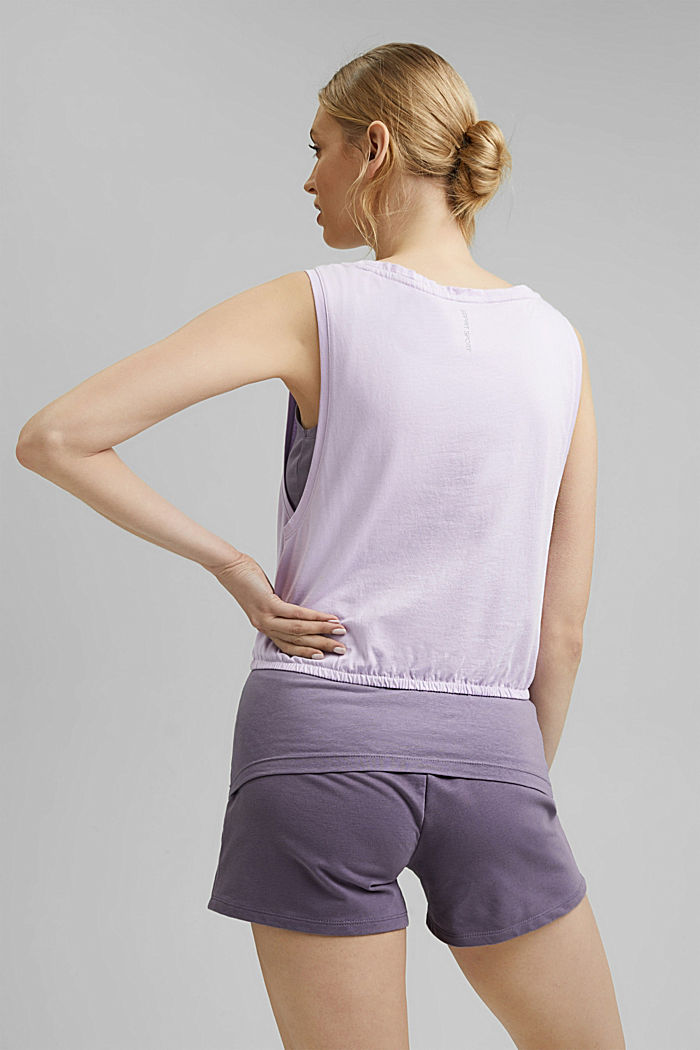 3-in-1 layered top with organic cotton, LAVENDER, detail image number 3
