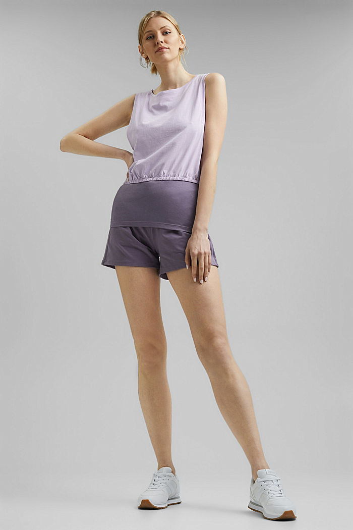 3-in-1 layered top with organic cotton, LAVENDER, detail image number 1